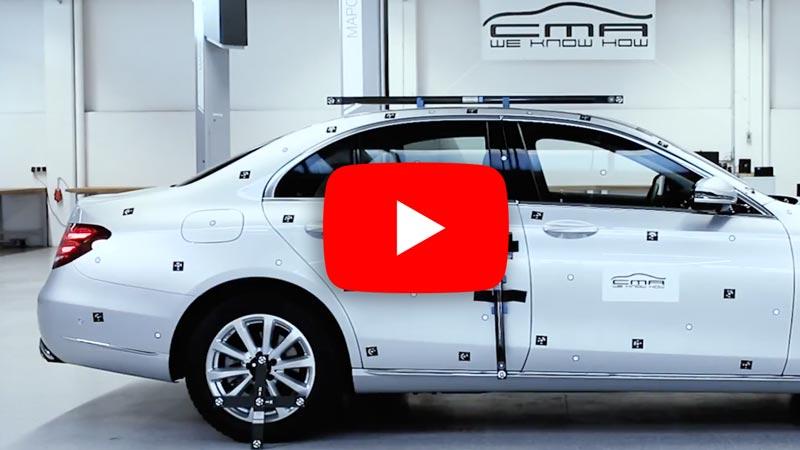 3D Photogrammetrie Messung eines Fahrzeugs