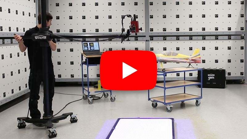 3D Messung eines Modellbau Flugzeugs