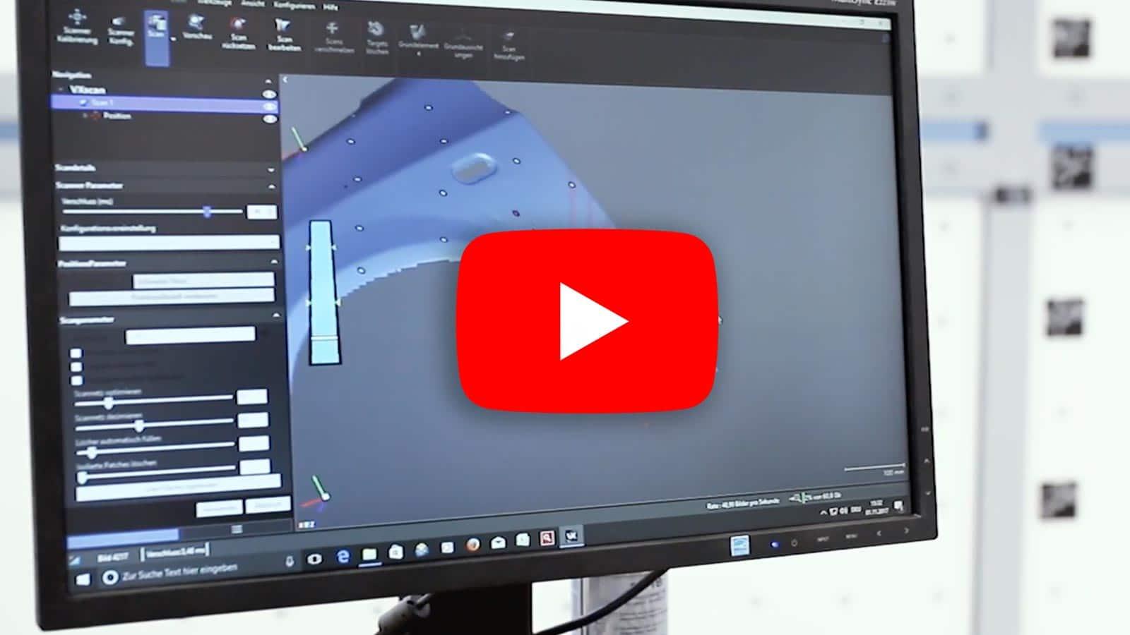 3D Scan eines Kotflügels mit Handy Scanner von Creaform